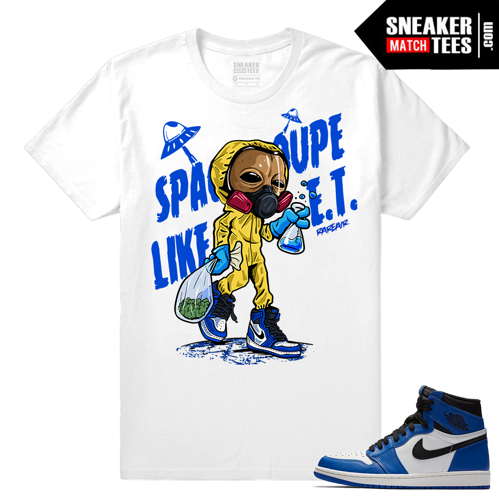 Jordan 1 Game Royal Sneaker Match Tees White Space Coupe Like ET