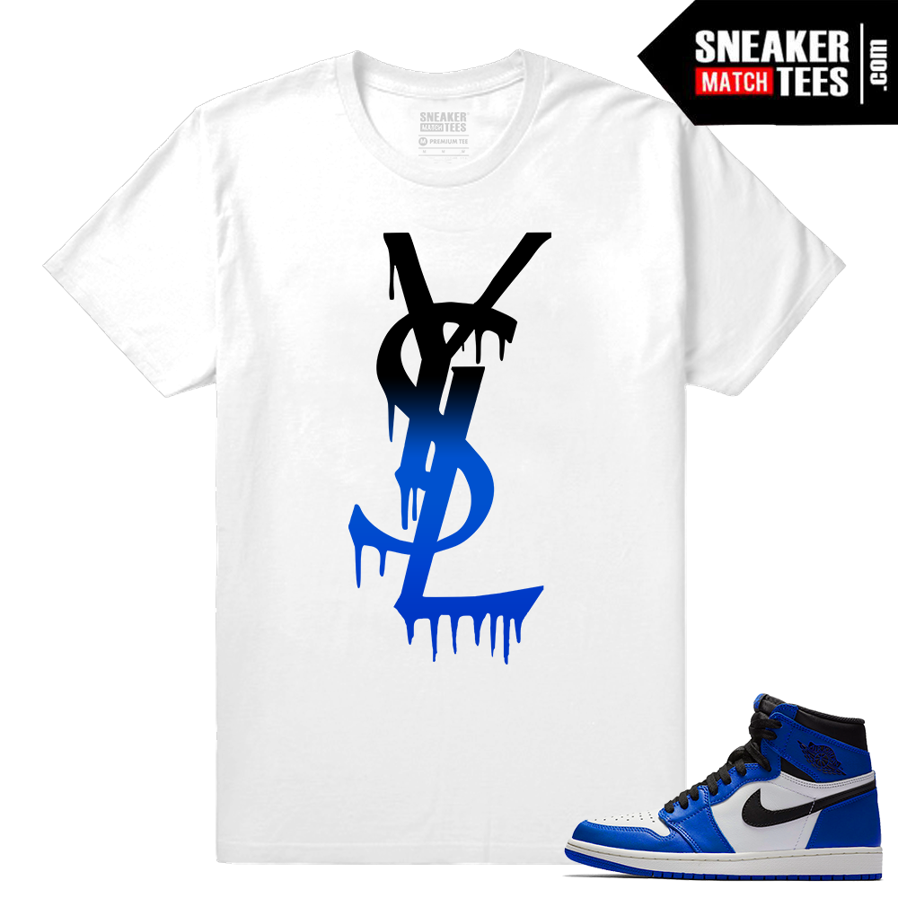 Jordan 1 Game Royal Sneaker Match Tees YSL DRIP