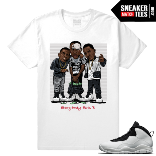 Jordan 10 Im Back Sneaker Match Tees White Everybody eats b
