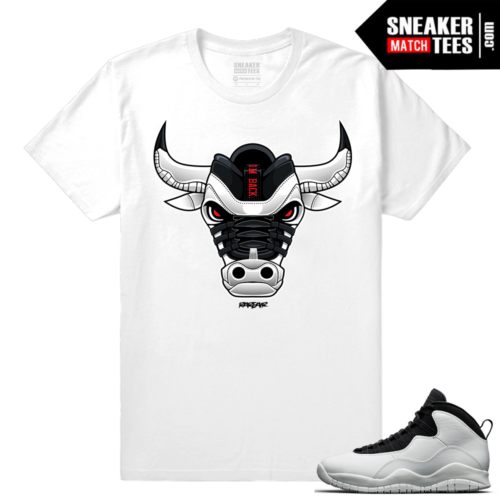 Jordan 10 Im Back Sneaker Match Tees White Im Back Bull