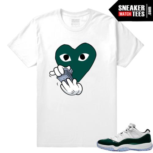 Jordan 11 Low Emerald Sneaker Match Tees Comme de Money