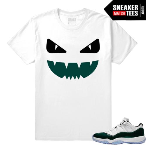 Jordan 11 Low Emerald Sneaker Match Tees Designer Monster
