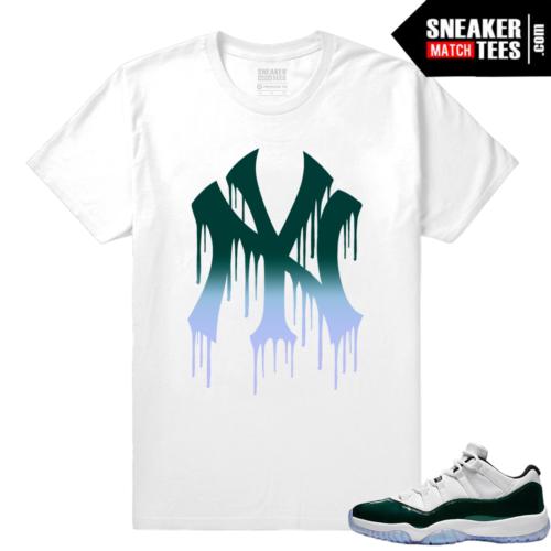 Jordan 11 Low Emerald Sneaker Match Tees NY Drip