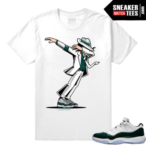 Jordan 11 Low Emerald Sneaker Match Tees White Dabin MJ
