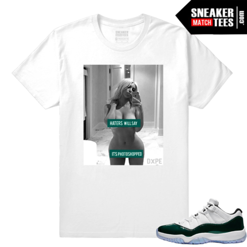 Jordan 11 Low Emerald Sneaker Match Tees White Haters Will Say