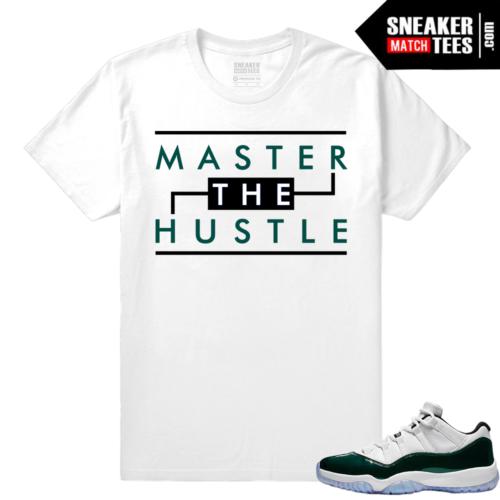 Jordan 11 Low Emerald Sneaker Match Tees White Master the Hustle