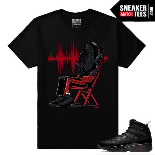 Jordan 9 Bred Sneaker Match Tees Black Sneakerhead 9s