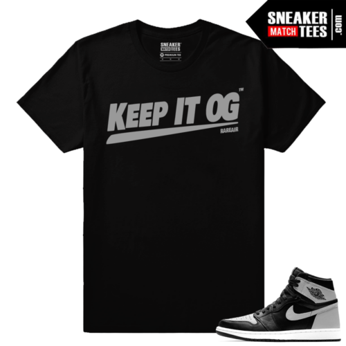 Air Jordan 1 Shadow matching Sneaker tee shirt