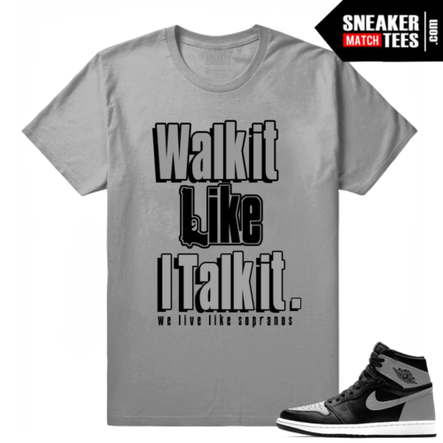 Air Jordan 1 Shadow matching tees shirt