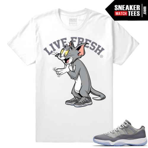 Cool Grey Shirt match Jordan 11