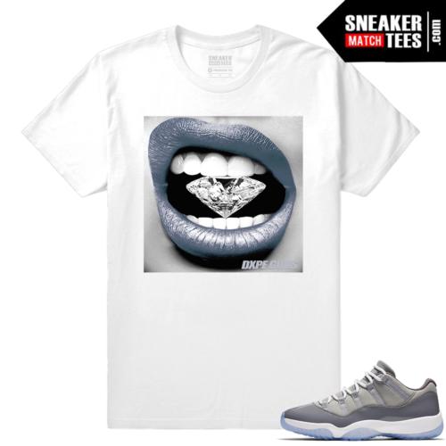 Diamond Lips Shirt Cool Grey 11 lows