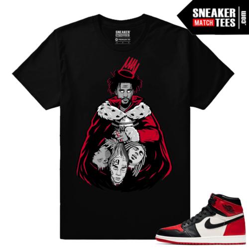 Jordan 1 Bred toe Shirt