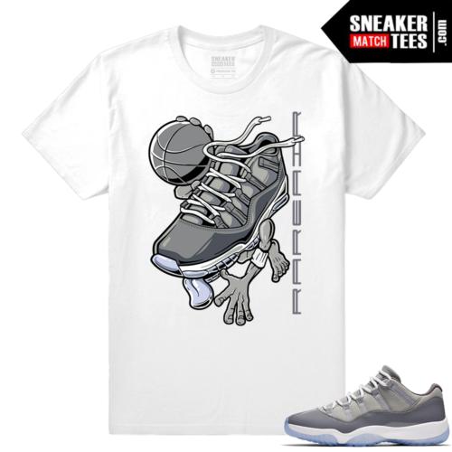 Jordan 11 Cool Grey low Shirt to match