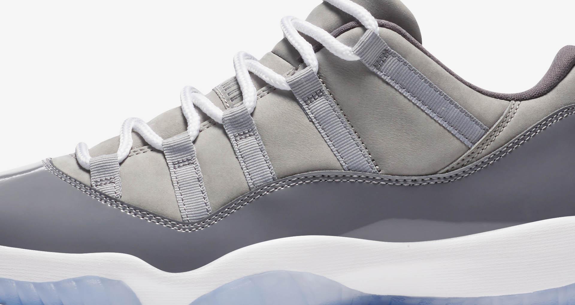 detailed look df0e9 c9f9a Air Jordan 11 Low Cool Grey 2018 - Sneaker Match Tees