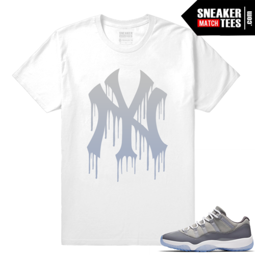 Jordan 11 low shirt cool grey