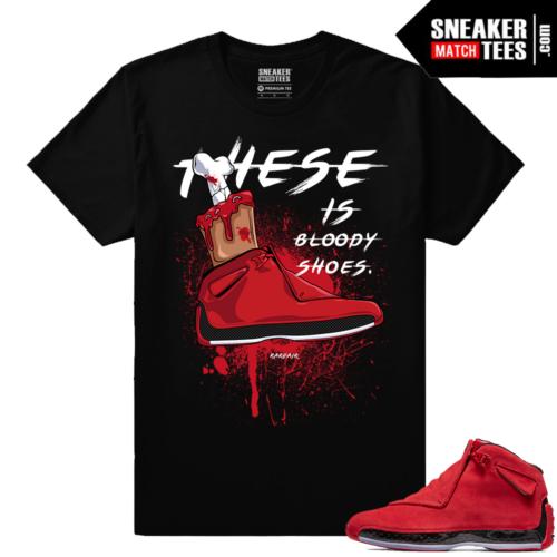 Jordan 18 Toro matching Sneaker shirts
