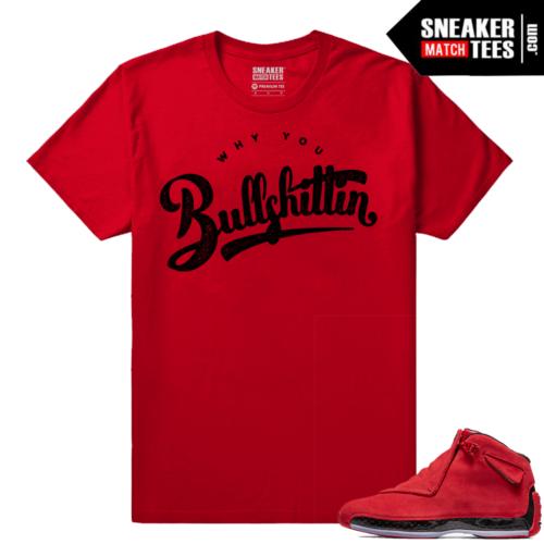 Jordan 18 Toro matching Sneaker tees shirts
