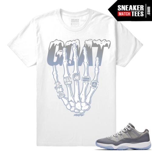 Match Jordan 11 Cool Grey Shirt