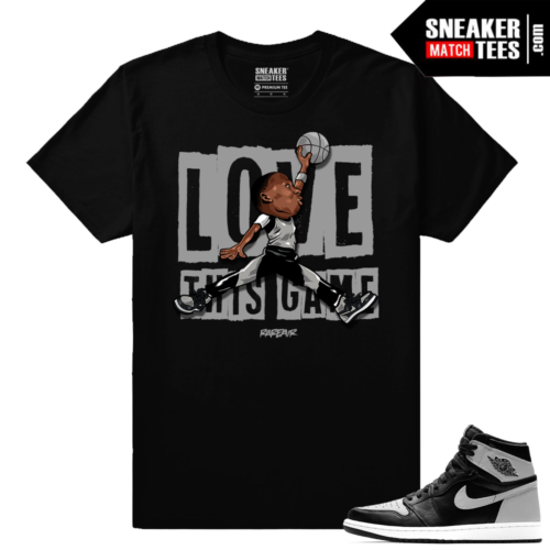 Shadow 1s Retro Jordans matching tee Shirt