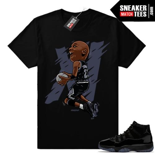 Air Jordan 11 Cap and Gown Sneaker shirt