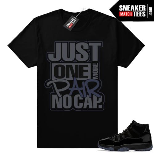 Black Jordan 11 match shirt
