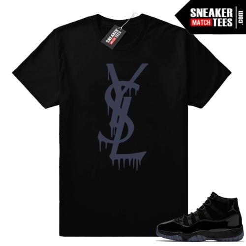 Black Jordan 11 sneaker shirt
