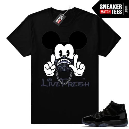 Black Jordans 11 match shirt