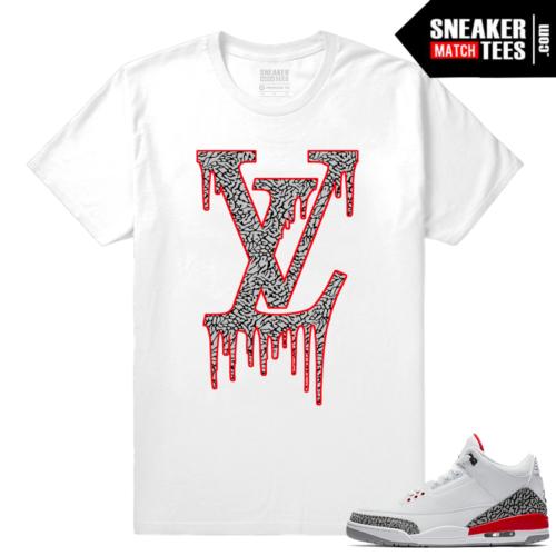 Jordan 3 Katrina LV Drip Shirt