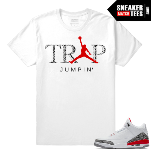 Jordan 3 Katrina Trap Jumpin shirt