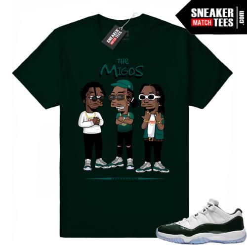 Migos t shirt Emerald 11 lows