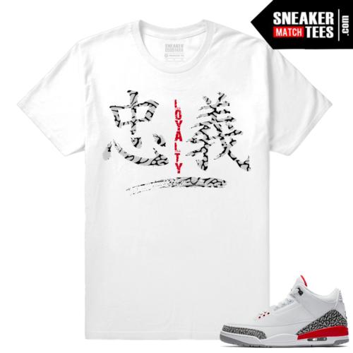Sneaker shirt Jordan 3 Katrina match