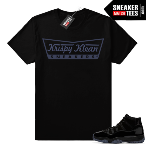 Sneaker tees match Air Jordan 11 Cap and Gown