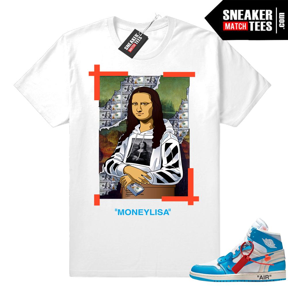Air Jordan 1 Off-white Mona lisa shirt