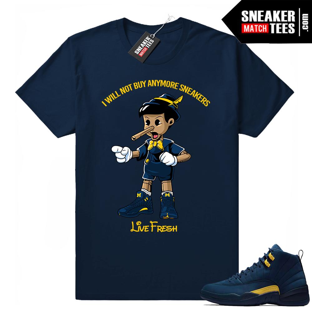Air Jordan 12 Michigan t shirt