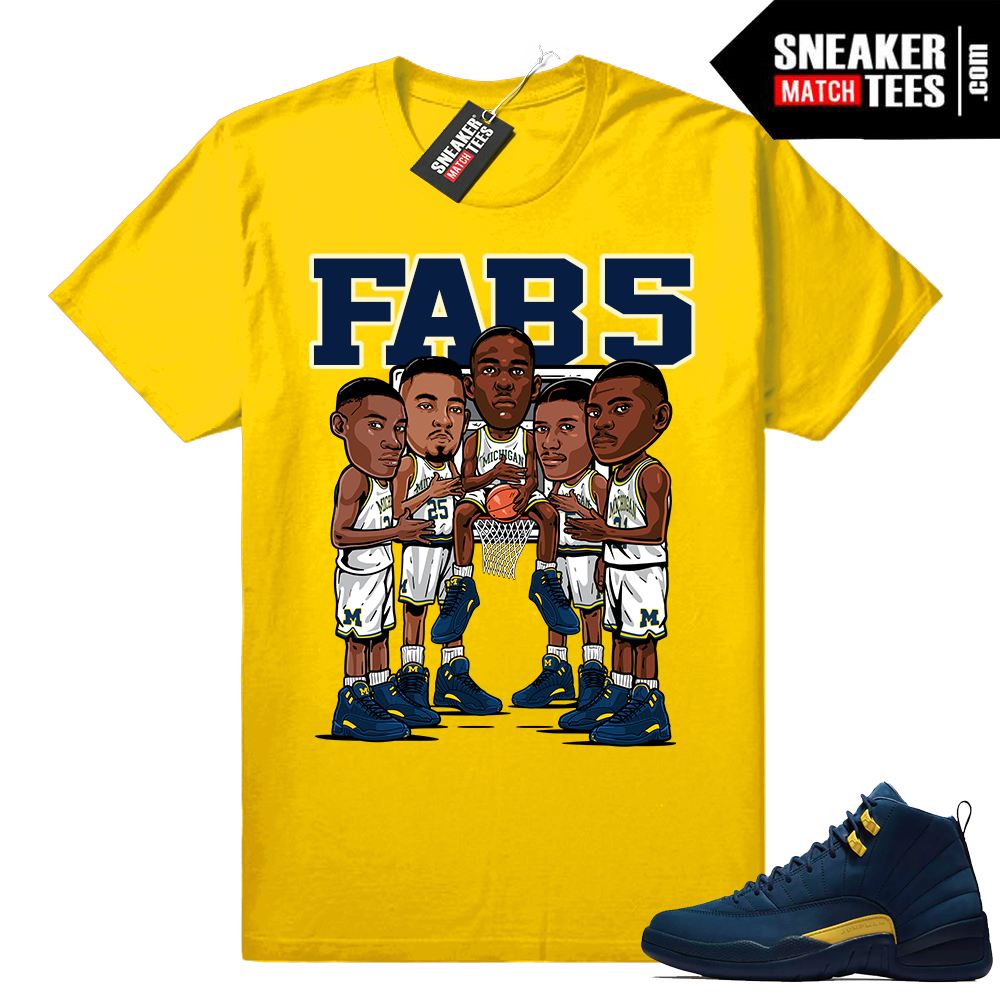 Fab 5 Michigan wearing Jordan 12