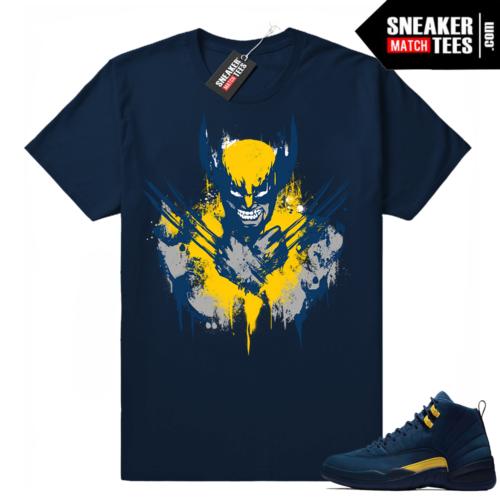 Jordan 12 Michigan matching shirt