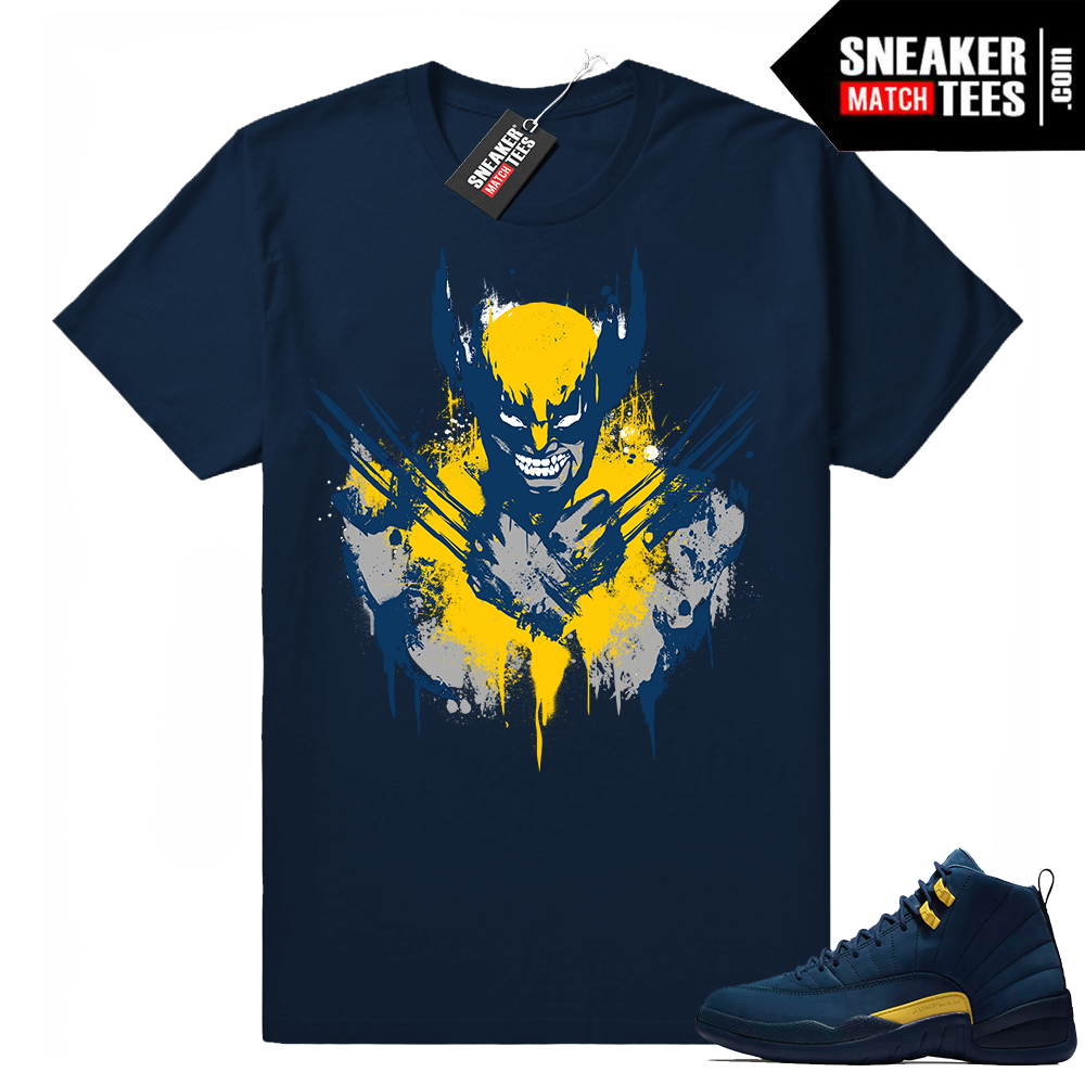 Jordan 12 Michigan matching shirt