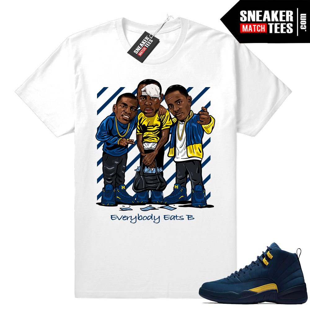 Jordan 12 Michigan sneaker tees