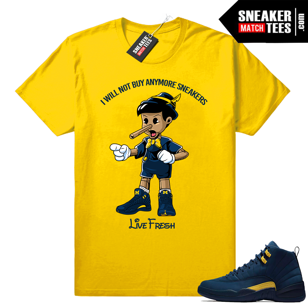 Jordan 12 matching Michigan shirt