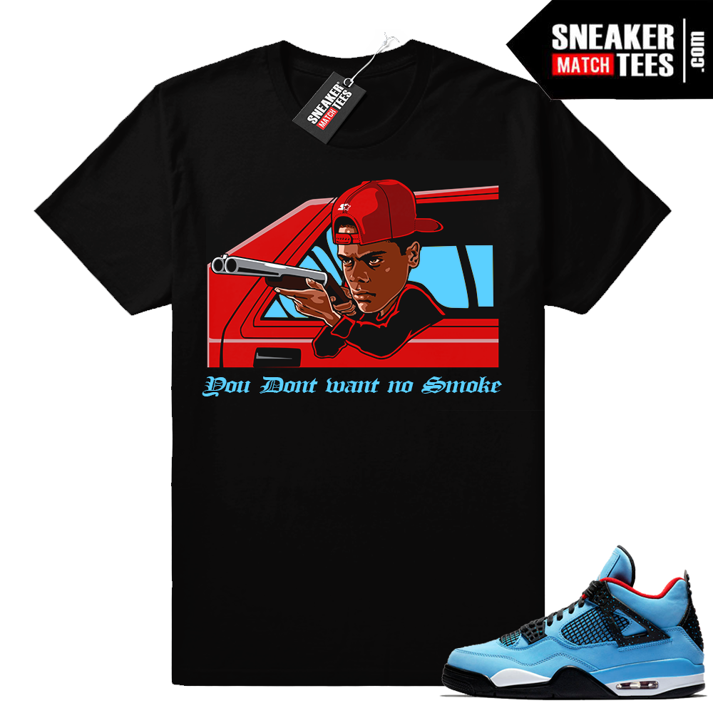 Jordan 4 Cactus Jack match sneaker tee