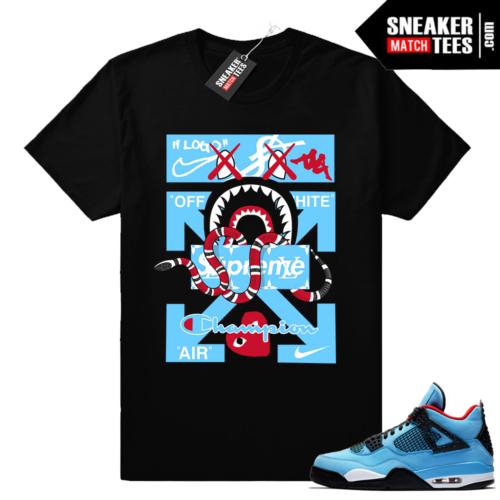 Jordan 4 Cactus Jack shirt match