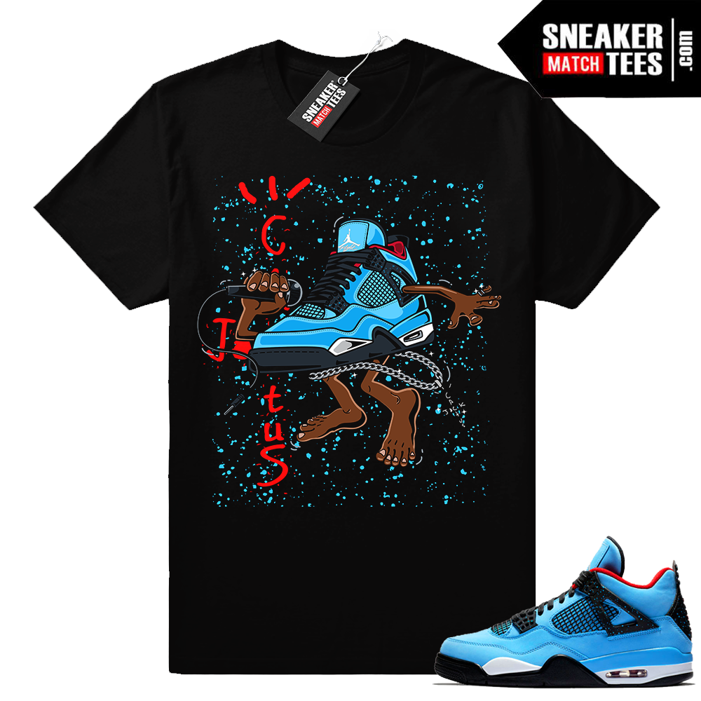 Jordan 4 shirt match Cactus Jack 4s
