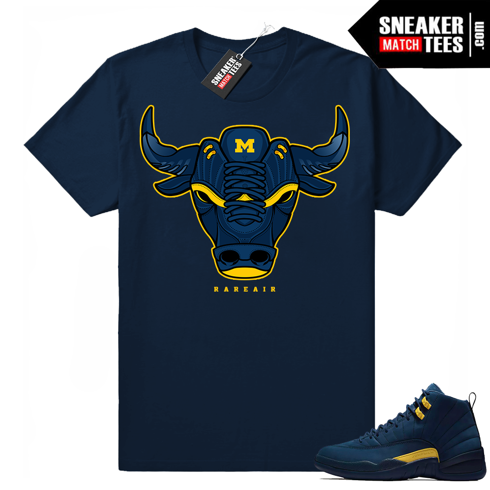 Michigan 12s Navy t shirt