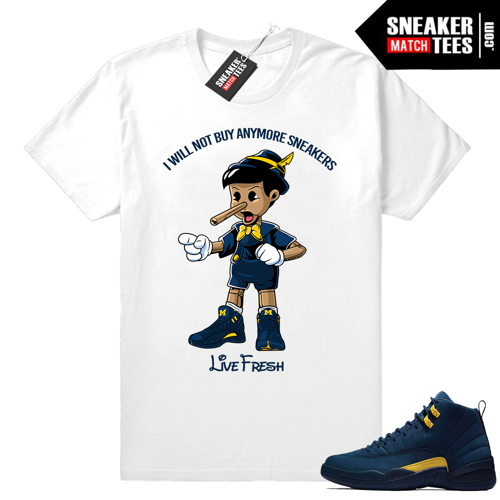 Michigan 12s Sneaker tees