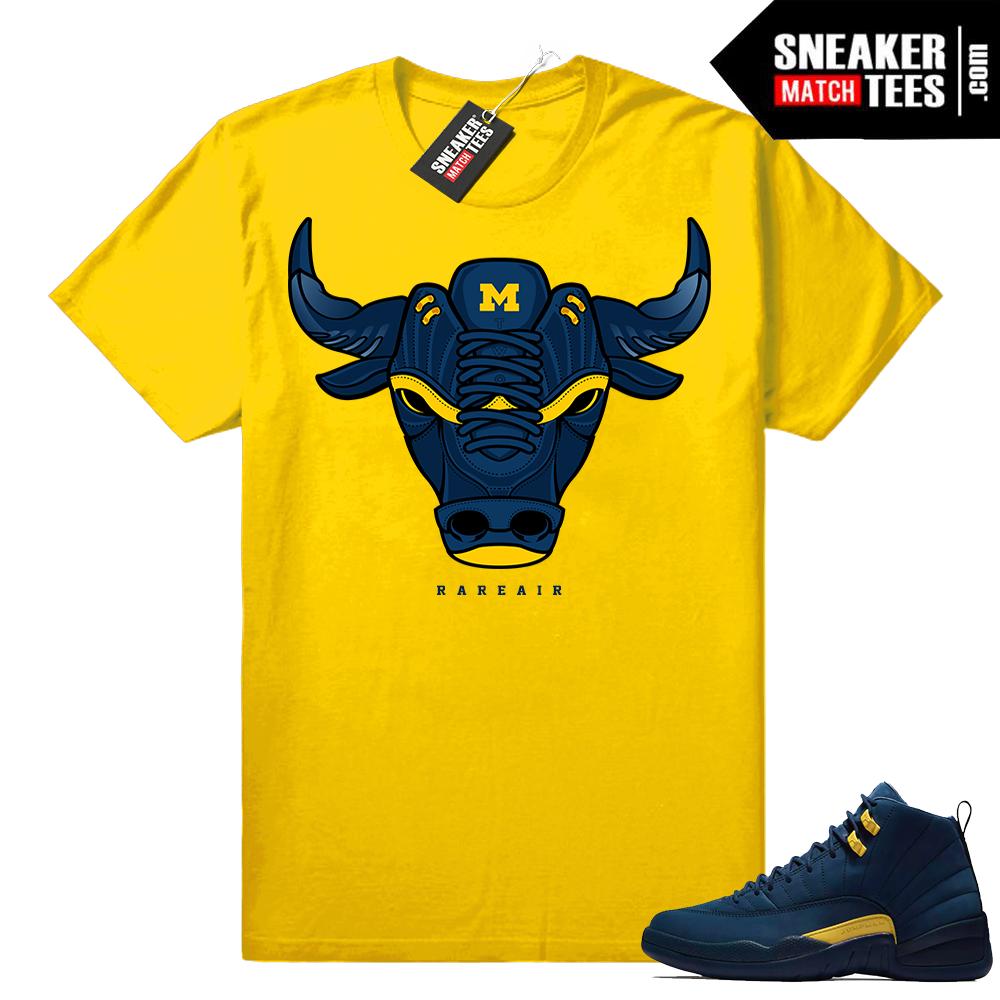 Michigan 12s T shirt Yellow