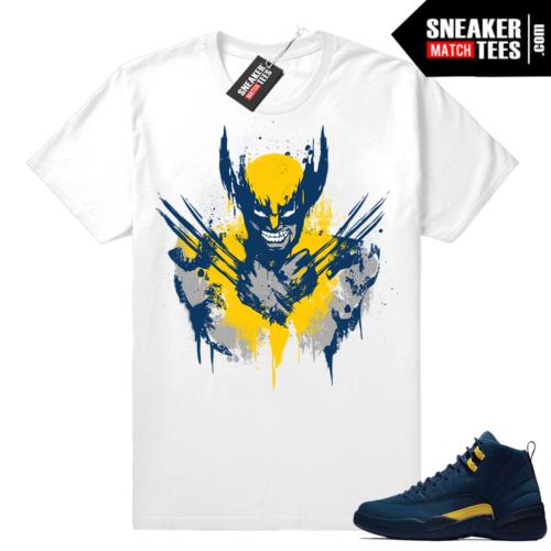 Michigan 12s sneaker tees shirt