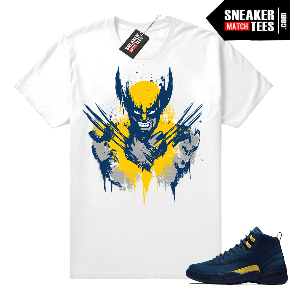 Michigan 12s sneaker tees shirt