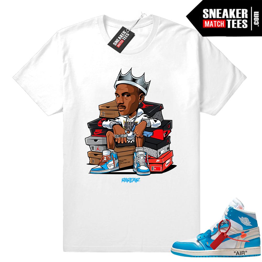 Off-White Jordan 1 UNC t shirt