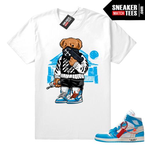 Off white Jordan 1 UNC shirt outfit