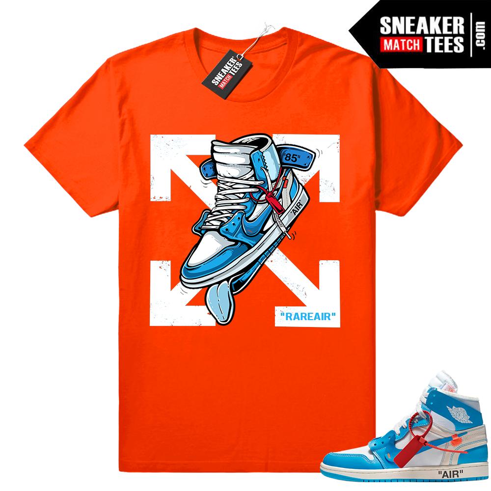 Off white Jordan 1 UNC shirt - Sneaker